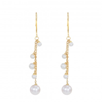 Callista Pearl Earrings in 375/9K Yellow Gold ER109351