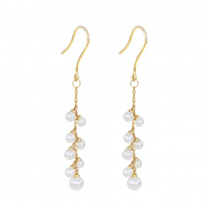 Zerene Pearl Earrings in 375/9K Yellow Gold ER109349