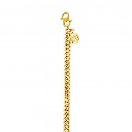 Sauh Lama Kosong with Bold Heart Shape Gold Bracelet, 916 Gold (16.17G) GW0111020