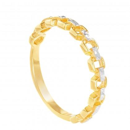 Oro Italia 916 White and Yellow Gold Ring (1.94G) GR45430321-BI