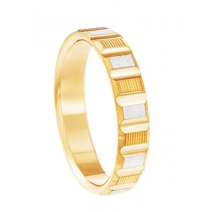 Oro Italia 916 White and Yellow Gold Ring (5.34G) GR45850421(YW)-BI