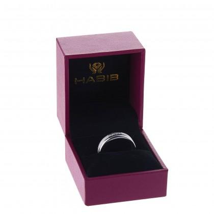 Round Diamond Men's Ring in 925/ Palladium 119610121(PLD)