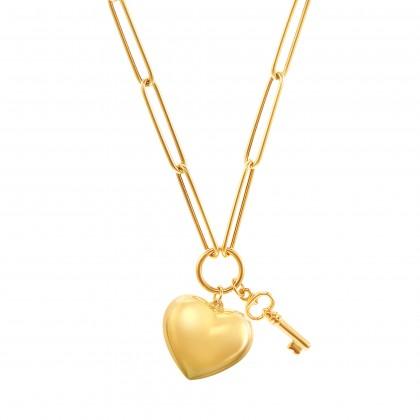 Oro Italia 916 Graffetta Yellow Gold Necklace (13.99G) GC25850321