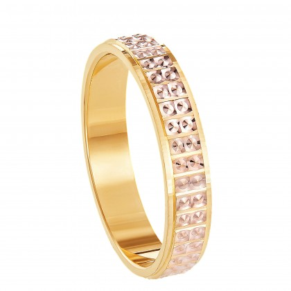 Oro Italia 916 Yellow and Rose Gold Ring (4.50G) GR44950321(R)-BI