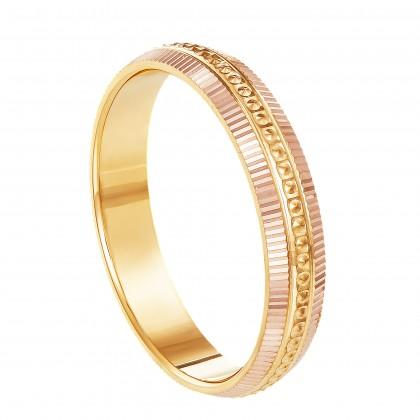 Oro Italia 916 Yellow and Rose Gold Ring (4.01G) GR44990321(R)-BI