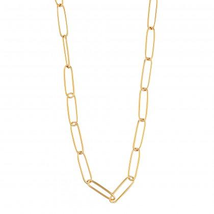 Oro Italia 916 Grafetta Yellow Gold Necklace (28.39G) GC25381220