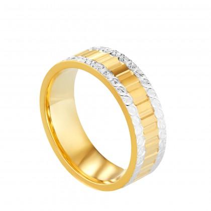 Oro Italia 916 White and Yellow Gold Ring (4.32G) GR44581220-BI