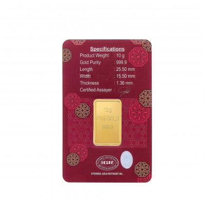 HABIB 10g 999.9 Gold Bar - London Bullion Market Association LBMA Certified Gold Bar