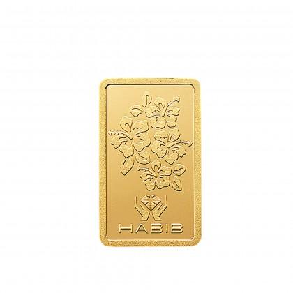 HABIB 5g 999.9 Gold Bar - London Bullion Market Association LBMA Certified Gold Bar
