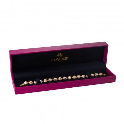 Oro Italia 916 Grande White, Yellow and Rose Gold Bracelet (16.01G) GW36320220-TI