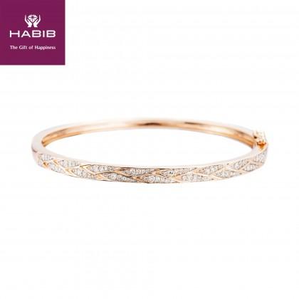 Spatalium Diamond Bangle in 375/9K Rose Gold 25776(B)