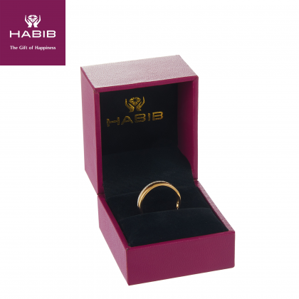 Double Row Diamond Ring in 375/9K Yellow Gold 24838