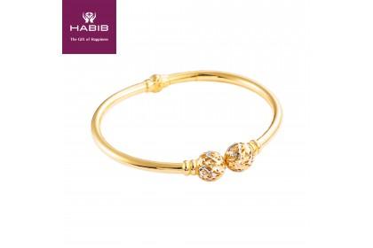 Arissa Gold Bangle, 916 Gold (12.0g)