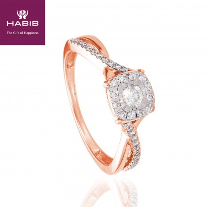 Giselle Diamond Ring in 375/9K Rose Gold 24847
