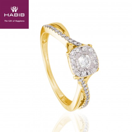Giselle Diamond Ring in 375/9K Yellow Gold 24847