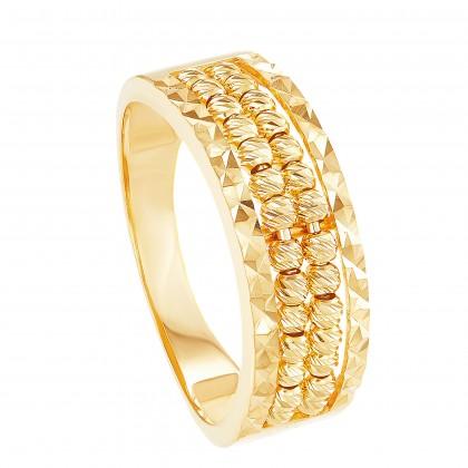 Oro Italia 916 Yellow Gold Ring (4.11G) GR45410321