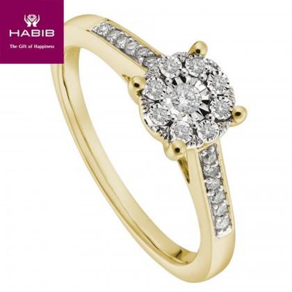 Iris Diamond Ring in 375/9K Yellow Gold 24616