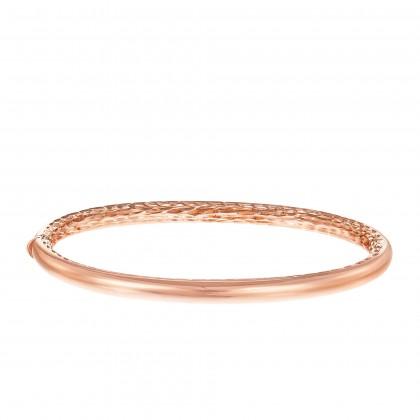 Oro Italia 916 Luna Rose Gold Bangle (14.46G) GB87131220(4R)