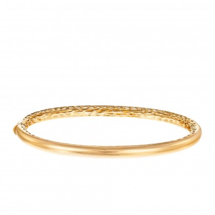 Oro Italia 916 Luna Yellow Gold Bangle (13.03G) GB87131220(4Y)
