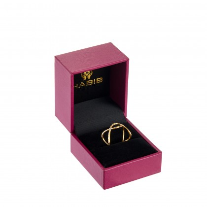 Zosia White and Yellow Gold Ring, 916 Gold (1.64G) RCA4101-01-691120W