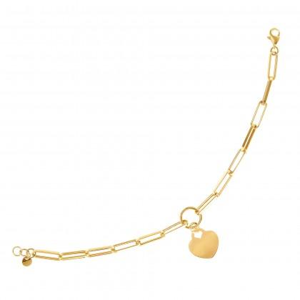 Oro Italia 916 Graffetta Yellow Gold Bracelet (7.23G) GW37700321