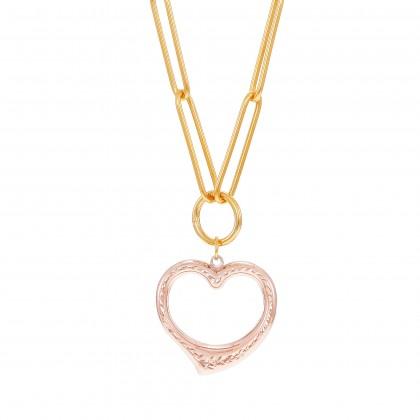 Oro Italia 916 Graffetta Yellow and Rose Gold Necklace (11.66G) GC26290621(RY)-BI