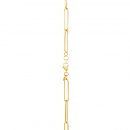 Oro Italia 916 Graffetta White, Yellow and Rose Gold Necklace (11.44G) GC25890421-TI