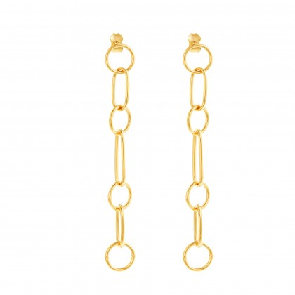 Oro Italia 916 Grafetta Yellow Gold Earrings (4.95G) GE71970321