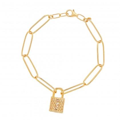 Oro Italia 916 Graffetta Yellow Gold Bracelet (8.36G) GW37870421