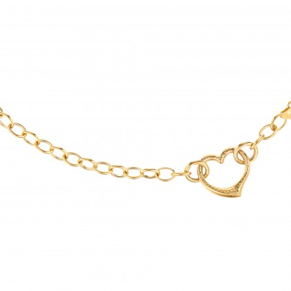 Oro Italia 916 Amore Yellow Gold Bracelet (8.41G) GW36991220