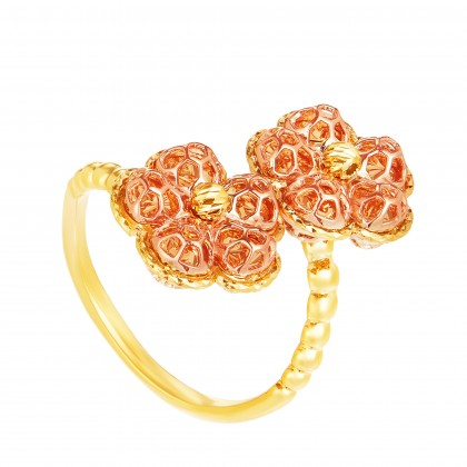Oro Italia 916 Yellow and Rose Gold Ring (6.02G) GR44220820-BI