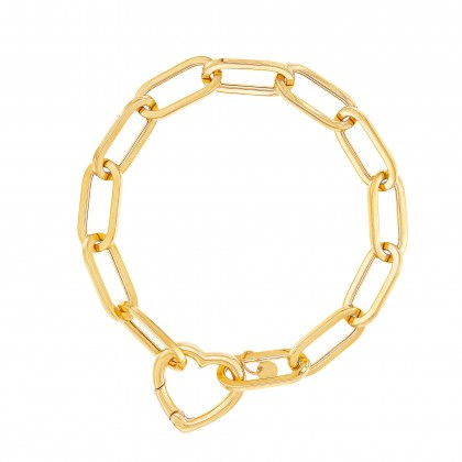 Oro Italia 916 Graffetta Yellow Gold Bracelet (12.35G) GW37540321