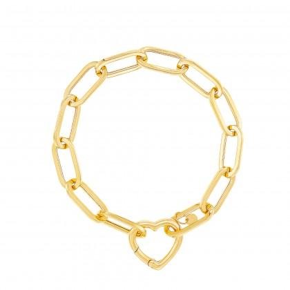 Oro Italia 916 Graffetta Yellow Gold Bracelet (12.99G) GW37540321