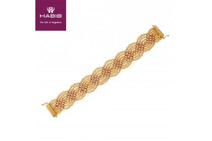 HABIB Oro Italia Salvanza Gold Bracelet, 916 Gold (48.88G)