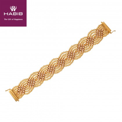 Oro Italia 916 Como White, Yellow and Rose Gold Bracelet (51.96G) GW3133-TI