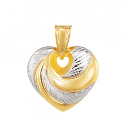 Oro Italia 916 White and Yellow Gold Pendant (1.43G) GP51270521(YW)-BI