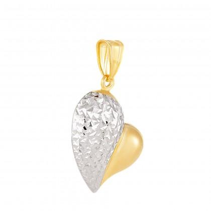 Oro Italia 916 White and Yellow Gold Pendant (2.34G) GP51350521(YW)-BI