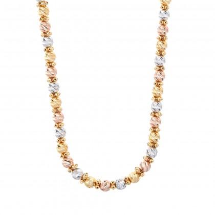 Oro Italia 916 Piccolo White, Yellow and Rose Gold Necklace (38.52G) GC2423-TI