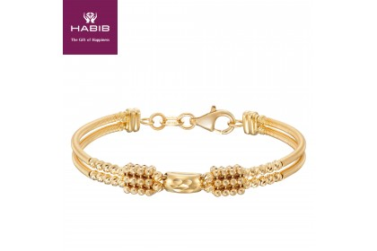 HABIB Oro Italia Fabia Baby Gold Bangle, 916 Gold (8.66G)