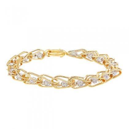 Oro Italia 916 White and Yellow Gold Bracelet (13.36G) GW3596-BI