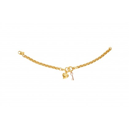 Oro Italia 916 Yellow and Rose Gold Bracelet (11.32GM) GW3579-BI