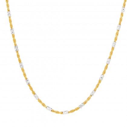 Oro Italia 916 Yellow and White Gold Necklace (7.74G) GC2360-BI