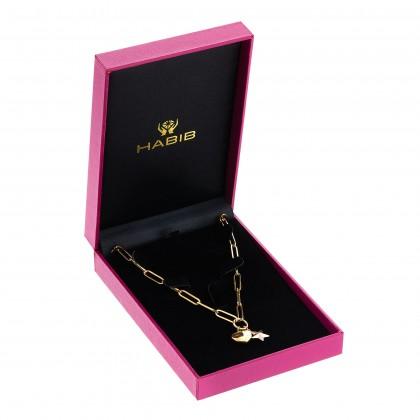 Oro Italia 916 Graffetta Yellow and Rose Gold Necklace (12.45G) GC25790321-BI