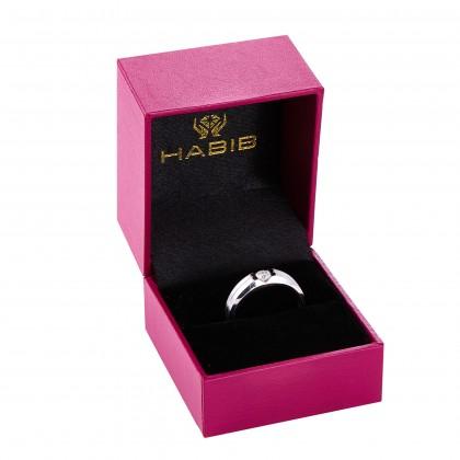 Channel Set Round Diamond Men's Ring in 925 Palladium A05630320(PLD)
