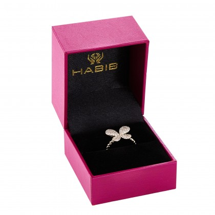 Round Diamond Butterfly Ring in 375/9K Yellow Gold 261180821(YG)