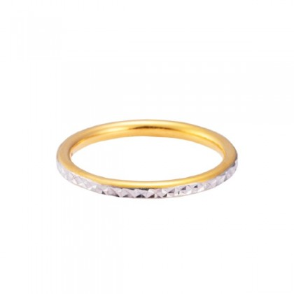 Mayra White and Yellow Gold Ring, 916 Gold (1.84G) R4998(1)