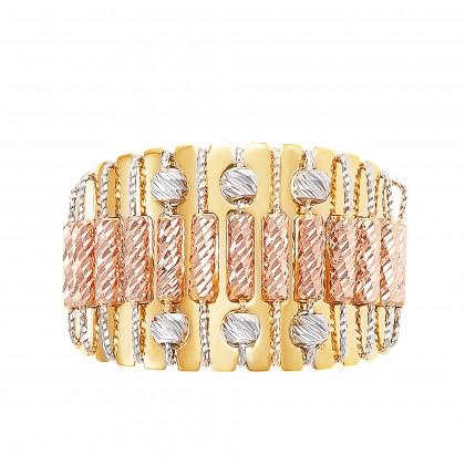Oro Italia 916 Sicilia Yellow, White and Rose Gold Ring (6.22G) GR44160220-TI