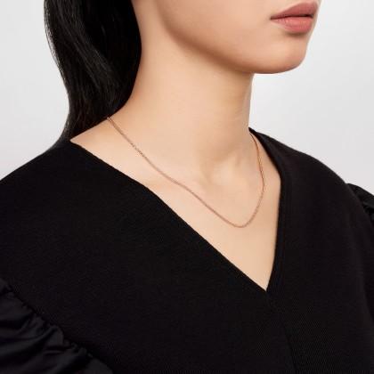 Oro Italia 916 White and Rose Gold Necklace (6.20G) GC2431-BI