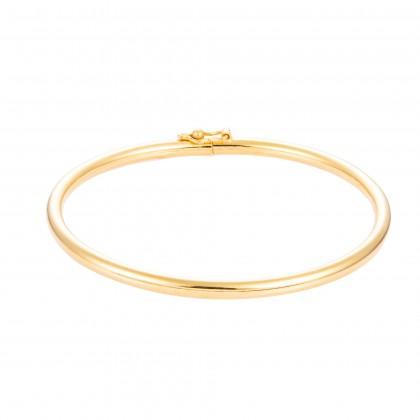 Vanlight Yellow Gold Bangle, 916 Gold (9.59G) GB021