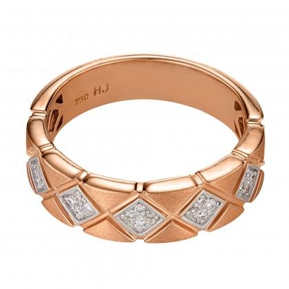 Round Diamond Ring in 750/18K Rose Gold 24863(R)